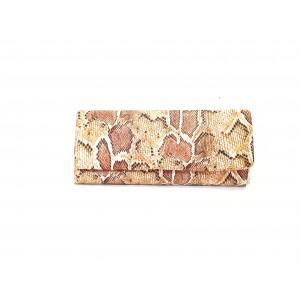 POSETA PLIC, PIELE ECOLOGICA SARPE, BROSNOR, ANIMAL PRINT MULTICOLOR, 30 x 12 cm