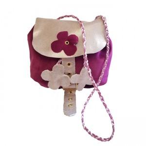 Poseta Sac din catifea, BrosNor, Violet-Roz, 16 cm × 14 cm