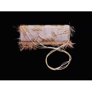 Poseta din brocart, BrosNor, Roz/Auriu, 30 x 13x 4 cm INANNA