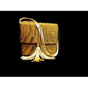 Poseta din brocart, BrosNor, Negru/Auriu, 14 x 14 x 4 cm