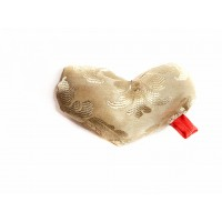 Perna mica in forma de inima, din brocard, BrosNor, Multicolor, 10 cm × 7 cm