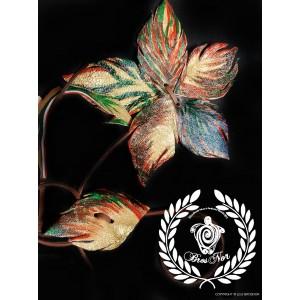 Colier din piele naturala, BrosNor, Multicolor, 35 cm Forest Glow